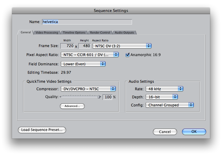 final cut pro project settings you down with FCP?