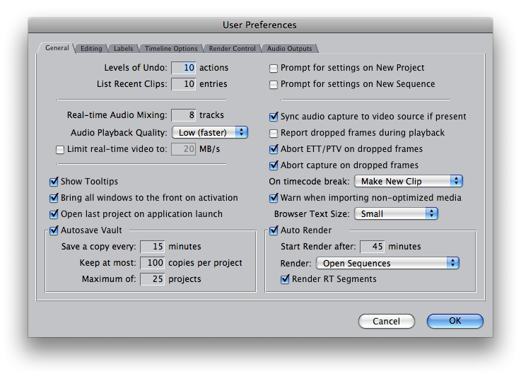 final cut pro user preferences