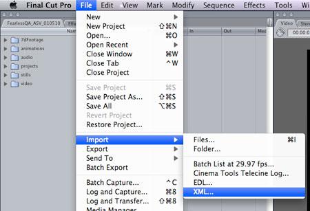 import xml into final cut pro